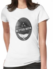 BUTTERBEER - Hogsmede Brew Black Label  Womens Fitted T-Shirt