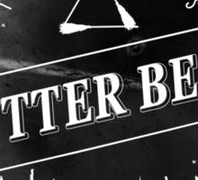 BUTTERBEER - Hogsmede Brew Black Label  Sticker