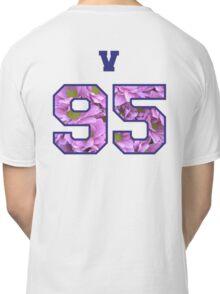 BTS- V 95 Line Flower Design Classic T-Shirt