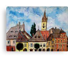 Evangelical Church Tower from Sibiu Transylvania Canvas Print