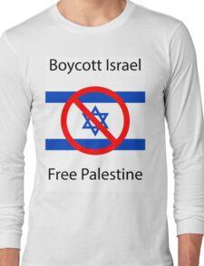 Boycott Israel T-shirt Long Sleeve T-Shirt