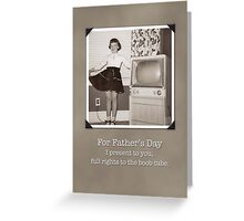 Father's Day Humorous Retro Boob Tube Card Greeting Card