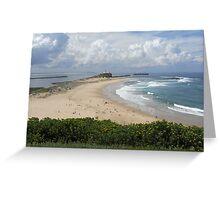Nobby's Beach, Newcastle Greeting Card