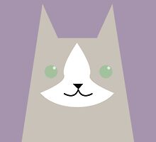 Grey and white cat by psygon
