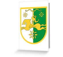 Abkhazia Coat of Arms  Greeting Card