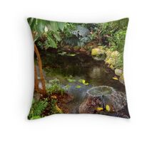Butterfly House Fountain Throw Pillow
