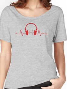 Headphones Heartbeat 2 Women's Relaxed Fit T-Shirt