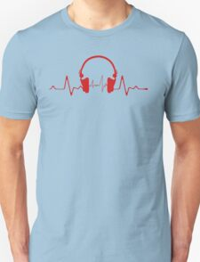 Headphones Heartbeat 2 Unisex T-Shirt