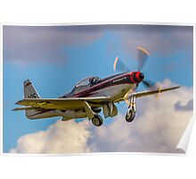 "Cavalier F-51D Mustang 2 NL405HC ""It's about time"" Poster"