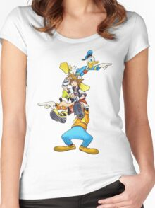 Kingdom Hearts: Where To Now? Women's Fitted Scoop T-Shirt