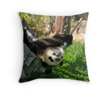 Lazy Panda in a Hammock Throw Pillow