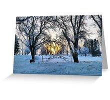 In the Dead of Winter Greeting Card
