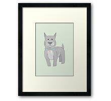 Grey Pit Bull Framed Print