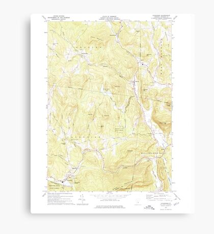 USGS Topo Map  Vermont VT Cavendish 337359 1972 24000 Canvas Print
