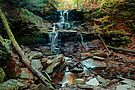 Water Starved Tuscarora Falls by Gene Walls