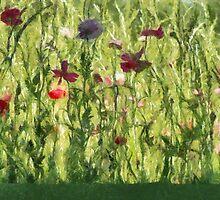 Gleeful Garden by Jean Gregory  Evans