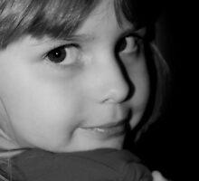 Black & White Portrait Of Young Child by Evita