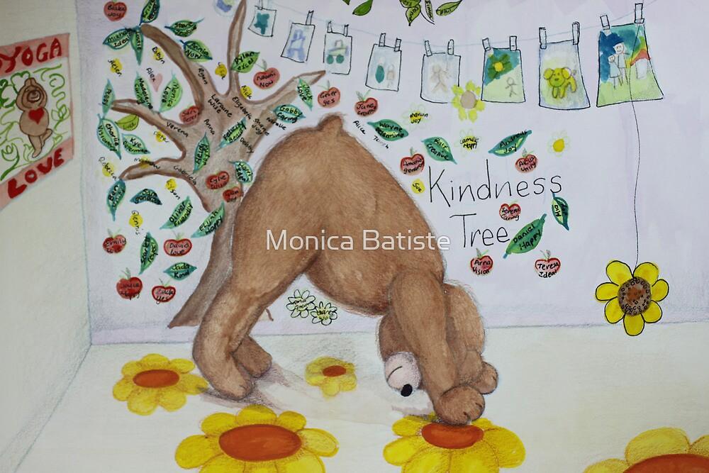 Downward Bear (Downward facing dog) Yoga pose by Monica Batiste