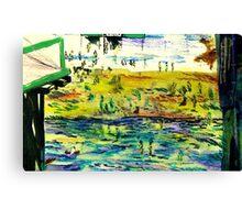 Brighton Beach from the Pier Canvas Print