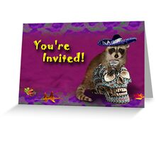 You're Invited Raccoon Greeting Card