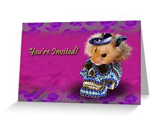 You're Invited Hamster Greeting Card