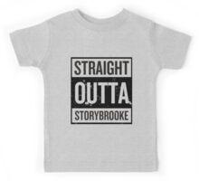 Straight Outta Storybrooke - Black Words Kids Tee