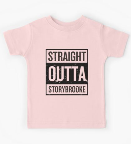 Straight Outta Storybrooke - Black Words Kids Tee