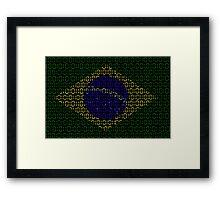 digital Flag (Brazil) Framed Print