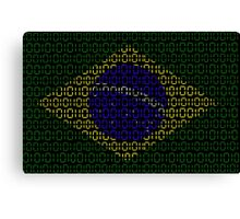 digital Flag (Brazil) Canvas Print