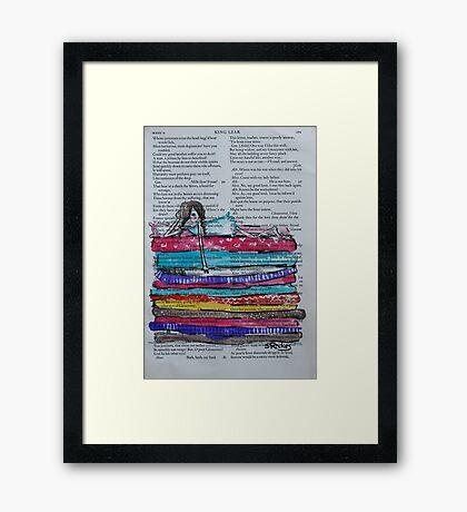 Princess and the Pea Framed Print
