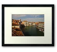 Venetian View of the Grand Canal Framed Print