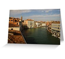 Venetian View of the Grand Canal Greeting Card