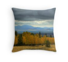 The Hills Painted With Light Throw Pillow