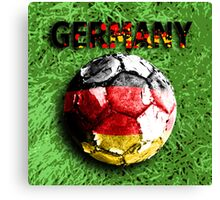 Old football (germany) Canvas Print