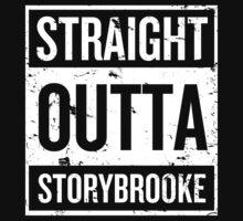 Straight Outta Storybrooke - White Words Kids Tee