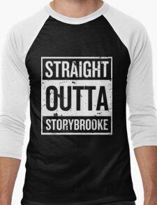 Straight Outta Storybrooke - White Words Men's Baseball ¾ T-Shirt