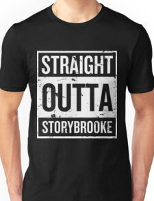 Straight Outta Storybrooke - White Words Unisex T-Shirt