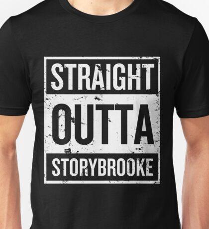 Straight Outta Storybrooke - White Words Unisex T-Shirt
