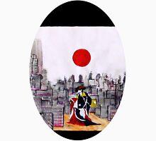 Japanese man in A Japanese landscape Unisex T-Shirt
