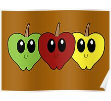 Fall Apples Poster