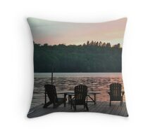 ADK Sunset VII Throw Pillow
