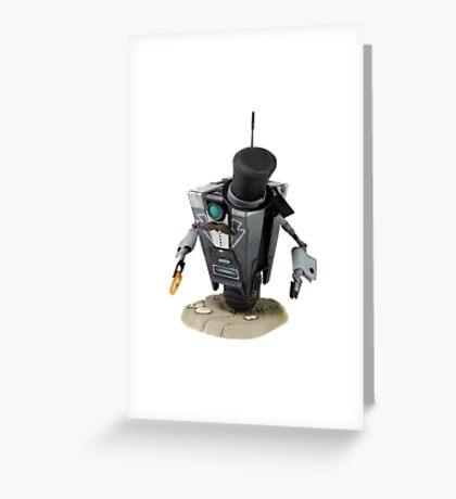 Fancy Butler Claptrap bot Greeting Card