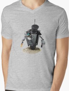 Fancy Butler Claptrap bot Mens V-Neck T-Shirt