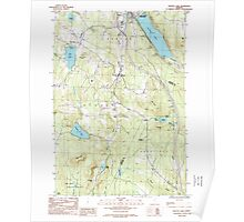USGS Topo Map  Vermont VT Crystal Lake 337388 1986 24000 Poster