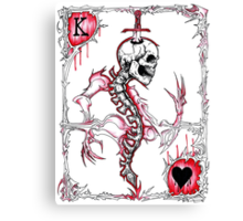 King of Hearts / Suicide King Canvas Print