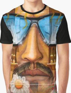 Graffiti face with glasses Graphic T-Shirt