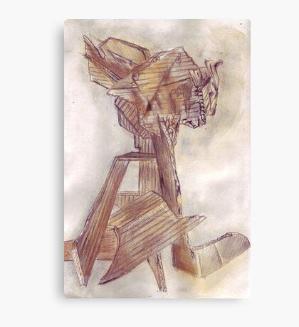 Cardboard tower Canvas Print