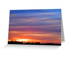 One Tree Hill Sunset, South Australia Greeting Card