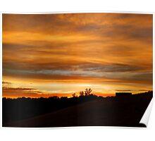 Adelaide Hills Sunset, South Australia Poster