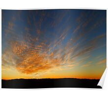 Copley Sunset, Outback South Australia Poster